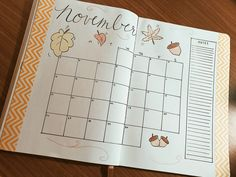 November Monthly Layout