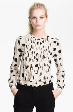 Diane von Furstenberg 'Hayden' Print Silk Blouse available at Nordstrom