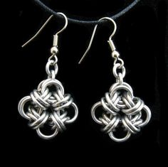 Bicubix Blocks Chainmaille Earrings. $5.50, via Etsy.