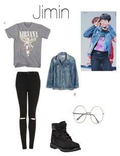 """Jimin"" by bts-polyvore on Polyvore featuring Topshop, Madewell and Timberland"