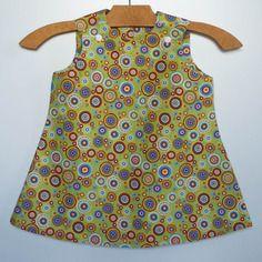 Robe fille hippy seventies 18-24 mois en coton