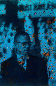 Here is another historical piece of Malcom X. I always like to assemble seemingly contradictory images or at the very least images who taken on their own merits have a different feel, or different meanings. Malcom X was such an imposing personality, I wanted to assemble his image with something diametrically opposed, a picture of the sky filled to the brim with Monarch butterflies seemed appropriate. I was pretty happy with the final image.