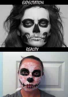 halloween makeup skull expectations