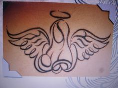 This will be my first tattoo.. <3 (I've redrawn it and altered it a little on paper, but still the same concept) Angel. baby. mother. child. simple. love.