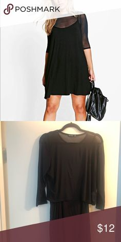 23c619a90f43 Shop Women's Boohoo Black size 16 Dresses at a discounted price at  Poshmark. Description: Boohoo Plus Mesh 2 In 1 Cami Dress.