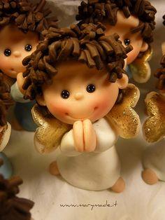 angelito para hacer en porcelana fria
