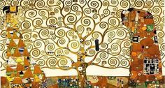 Gustav Klimt (1862 - 1918) El árbol de la vida (1909) una de sus obras más conocidas y a la vez menos vistas. La obra se halla en Bruselas en el Palacio Stoclet que es propiedad particular y no está abierto al público, pese a ser, desde 2009, Patrimonio de la Humanidad según la Unesco.