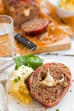Mozzarella Stuffed Bacon Wrapped Meatloaf Recipe