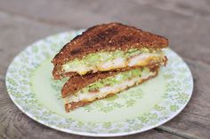 Turkey, bacon, avocado grilled cheese. This is a very bad thing to look at while hungry...