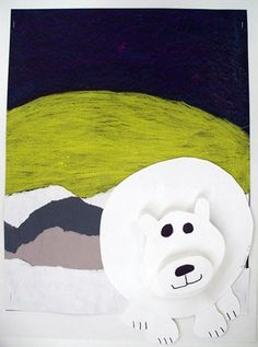 Polar Bear Collage@Artsonia