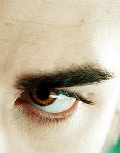 his golden eyes
