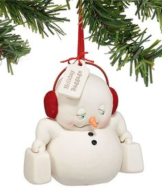 Look at this Snowpinions Snowman 'Holiday Baggage' Ornament on #zulily today!