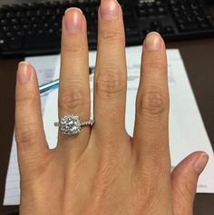 """""""My fiancé did his research and found the best fit for me. I'm so lucky to have this beauty sit on my finger!"""" - Jenna  Congratulations to Jenna and her new fiancé!   Ritani and Amour Jewellers"""