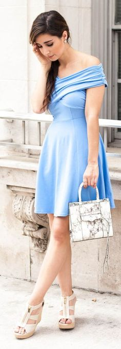 Spring Blues Inspiration Dress by The Darling Detail
