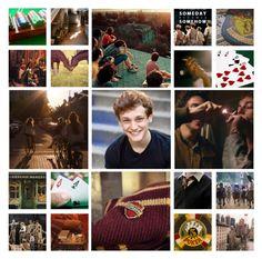 """DM nerds Newsies/Hogwarts AU"" by aksmasads ❤ liked on Polyvore featuring art"