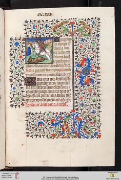 Cod. Sal. IXe  Livre d'heures  Paris, 1420/30  Codices Salemitani - digital Zitierlink: http://digi.ub.uni-heidelberg.de/diglit/salIXe i  URN: urn:nbn:de:bsz:16-diglit-74386 i  Metadaten: METS