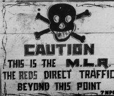 Warning sign at the Korean front :: Korean Digital Archive