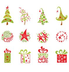 Christmas collection vector - by imagination13 on VectorStock®