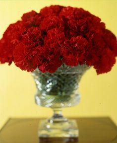 I love the scent of carnations at Holiday times. Was at a holiday party in Bedford, NH. The hostess used small bouquets of simple mini white carnations. I've never forgotten that party. Use white or red. You can sprinkle some wired small ornaments amongst the blooms for color or sparkle.