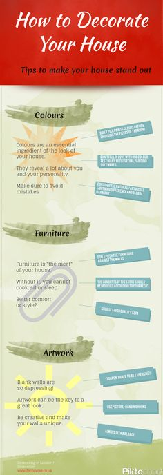 How to Decorate your Home Infographic