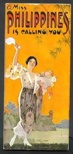 "1920s Philippine tourism promotion poster - BBC Boracay says: "" Look at Mr. Philippines. Seems that she knows already 100 years ago that it is More Fun in the Philippines...."""