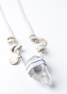 Calawee Crystal Necklace - White