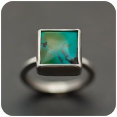 Cute little square turquoise. I love how simplistic it is, but still has so much depth.