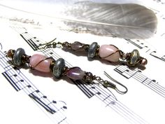 Jasper Earrings Ethic  Hippy Jewelry Bohemian by LunaEssence