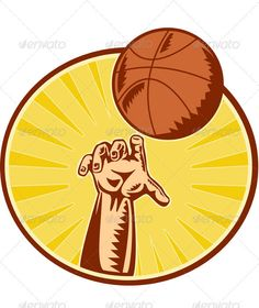 Basketball Player Hand Catching Thowing Ball