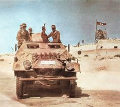 Sd.Kfz.251/1 Ausf.B -Fort El Agheila in the background, pin by Paolo Marzioli