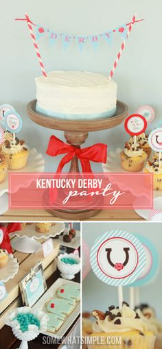 How to host a Kentucky Derby party! This is so adorable!
