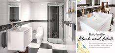 Baño familiar Black and White. Son colores opuestos que juntos se ven fantásticos. Tu baño será un lugar elegante y con mucha personalidad. Bathtub, Bathroom, Twin Girls Rooms, White Bathroom, Bar Home, Personality, Space, Elegant, Standing Bath