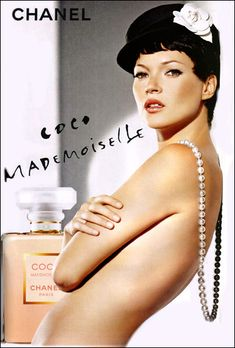 Kate Moss for Chanel Coco Mademoiselle Campaign by Dominique Issermann, 2005 Coco Chanel Mademoiselle, Mademoiselle Magazine, Perfume Chanel, Best Perfume, Chanel Pearls, Kate Moss, Top Models, Anuncio Perfume, Moss Fashion