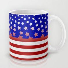 Stylised USA flag Mug by Pedro Vale - $15.00