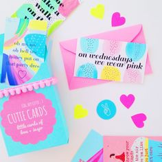 Cutie Cards // Mini Love Inspo Notes by VioletTinder on Etsy