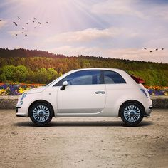 Hello #spring, it's time to open the roof and breath in freedom! #500C #Fiat