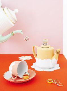 """☞ Série mode """"Teatime"""" publiée dans le MilK N°48  Photos : Claire Israël Style: Mélanie Hoepffner Set-design: Juliette Ménard"""