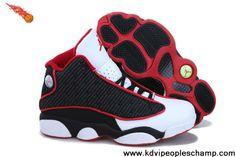 Fashion Women Air Jordan 13 (XIII) Retro Red/Black/White Basketball Shoes Shop