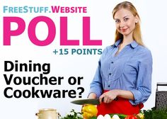 Would you rather cook at home with your own free cookware or enjoy a complimentary meal at a fine restaurant? Let us know for points and don't forget to leave a comment with yo Would You Rather, Cook At Home, Cookware Set, Don't Forget, The 100, Meal, Restaurant, Dining, Free