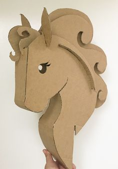 This unicorn is just missing it's horn. New DIY cardboard template coming soon!