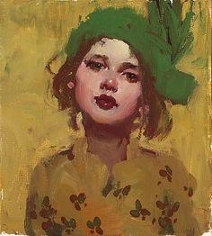 "Milt Kobayashi: ""Hat Day"", oil on canvas."