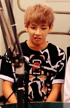 Everytime rapmonster is talking english the rest is just listening like: