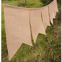 Burlap Banner Rectangle 8 x 10 inch flags, 88 inches long... https://www.amazon.com/dp/B0116S7RK0/ref=cm_sw_r_pi_dp_FkyxxbS4CXM2S