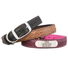 Love this product from dogIDs.com!   Personalized Bison Leather Dog Collars