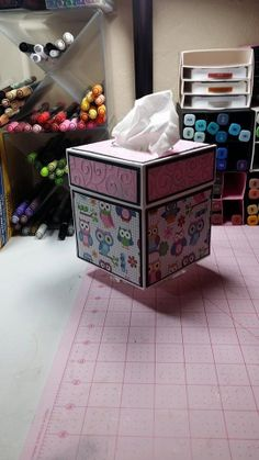 SVG Cutting File for a Square Tissue Box Cover by CraftingBySonia, $2.99