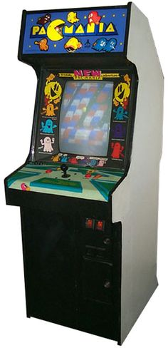 1987: Pac-Mania by NAMCO. A 3-D version of the original classic. A bounce button allows Pac-Man to jump over ghosts. Additionally, there are more ghosts, some of which also have the capability to jump whenever Pac-Man jumps. Some of the levels include the LEGO-like Block Town, the original maze Pac-Man's Park, the closed-off top Sand Box Land, and the extremely large Jungly Steps which looks like a bunch of steps. CLIC PICTURE TO SEE IT IN ACTION.