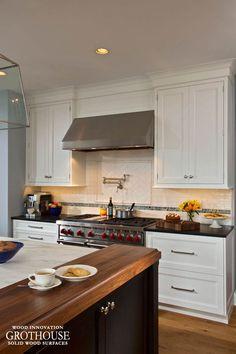 Walnut Wood Kitchen Island Ends in Saratoga Springs, NY Kitchen Island Ends, Walnut Kitchen, Wood Countertops, Custom Wood, Walnut Wood, Kitchen Remodel, York, Blog, Design