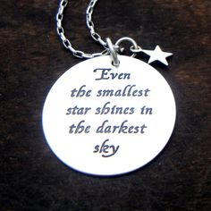 Inspirational Encouraging quote necklace by YouCanQuoteMeOnThat, $68.00