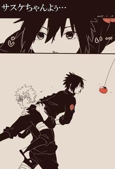 Sasuke and the tomato with Naruto Sasuke Uchiha, Naruto Cute, Naruto Sasuke Sakura, Naruto Funny, Anime Naruto, Sasunaru, Narusasu, Boruto, Comic Naruto
