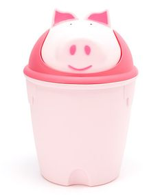 Loving this Pig Wastebasket on #zulily! #zulilyfinds